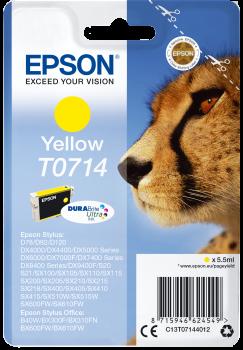 Original Epson Patrone T0714 für Stylus D78 D92 DX4000 etc. yellow