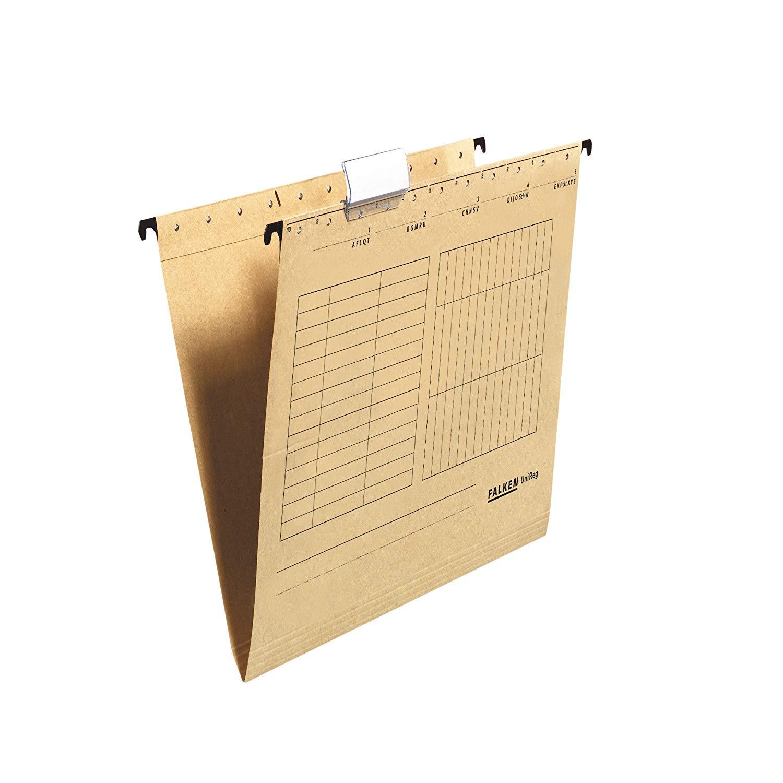 Falken Hängetasche 80004328 UniReg, braun 230g/m²-Kraftkarton, seitlich offen