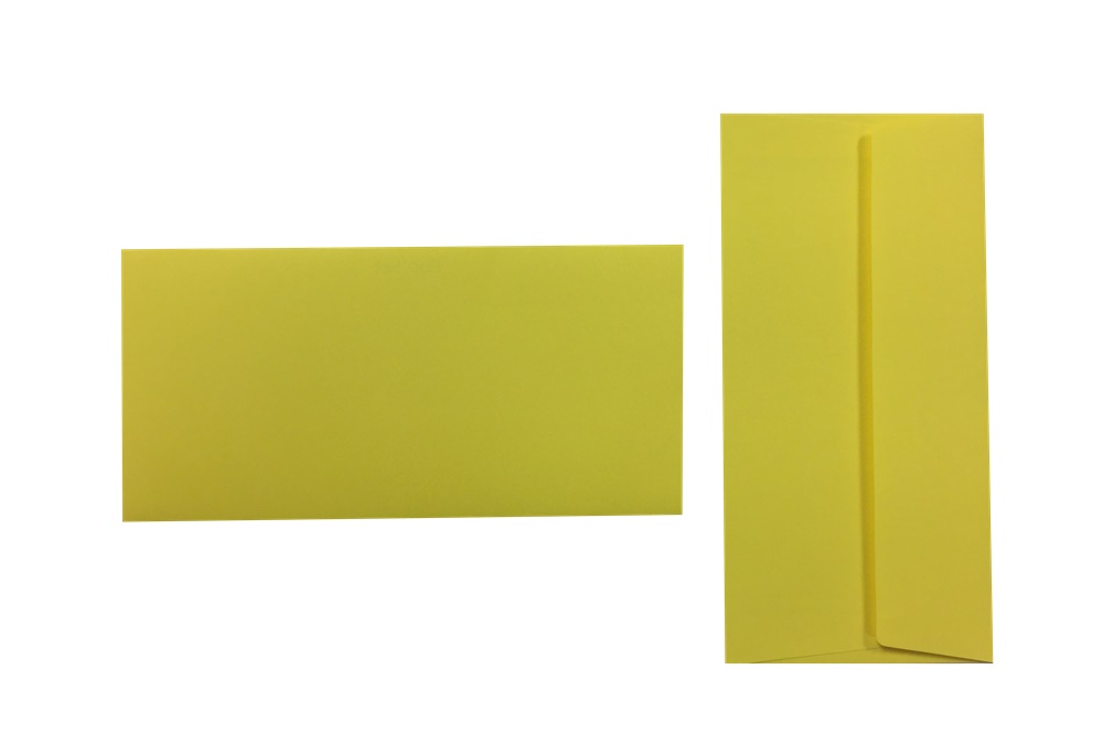 Pop'Set Umschläge DIN Lang zitronengelb 120g/m² 100 Stück