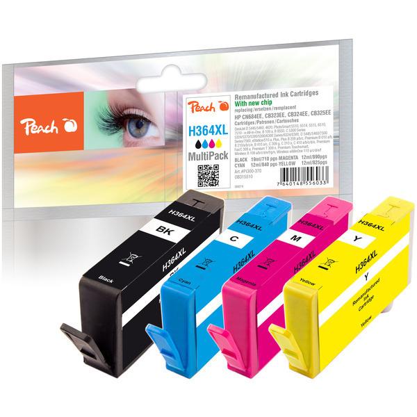 Peach Spar Pack Tintenpatronen kompatibel zu HP No. 364XL / CN684EE, B323EE, CB324EE, CB325EE - PI30