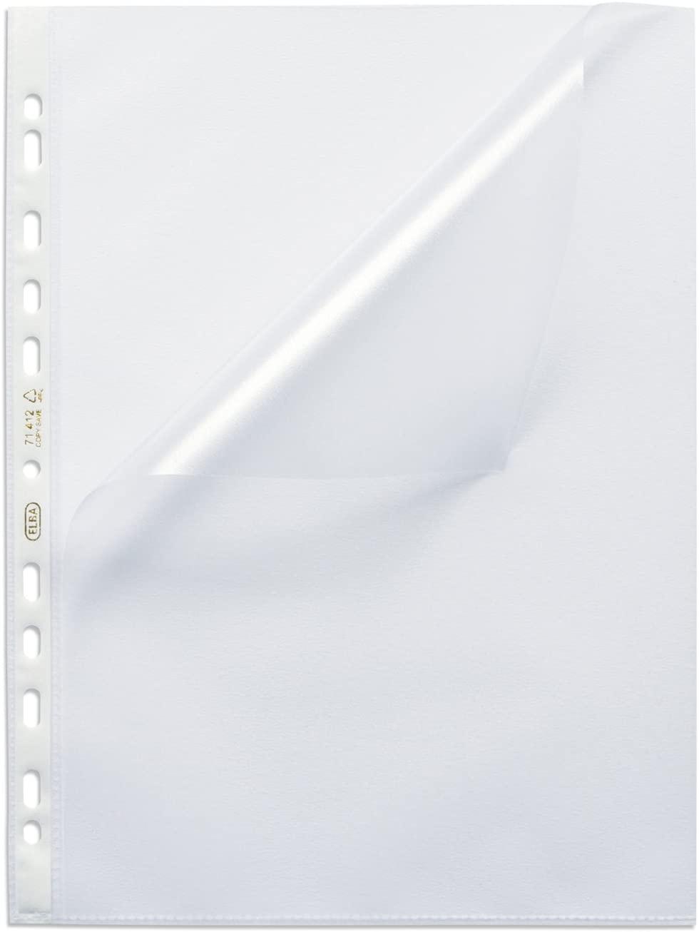 ELBA Prospekthülle A4 Premium 0,12 mm genarbt, 100 Stück