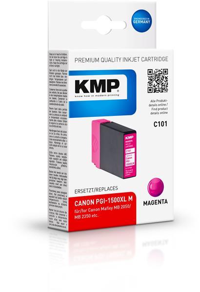 KMP Patrone C101 komp. PGI-1500XL M für Canon Maxify MB 2050 / MB 2350 magenta