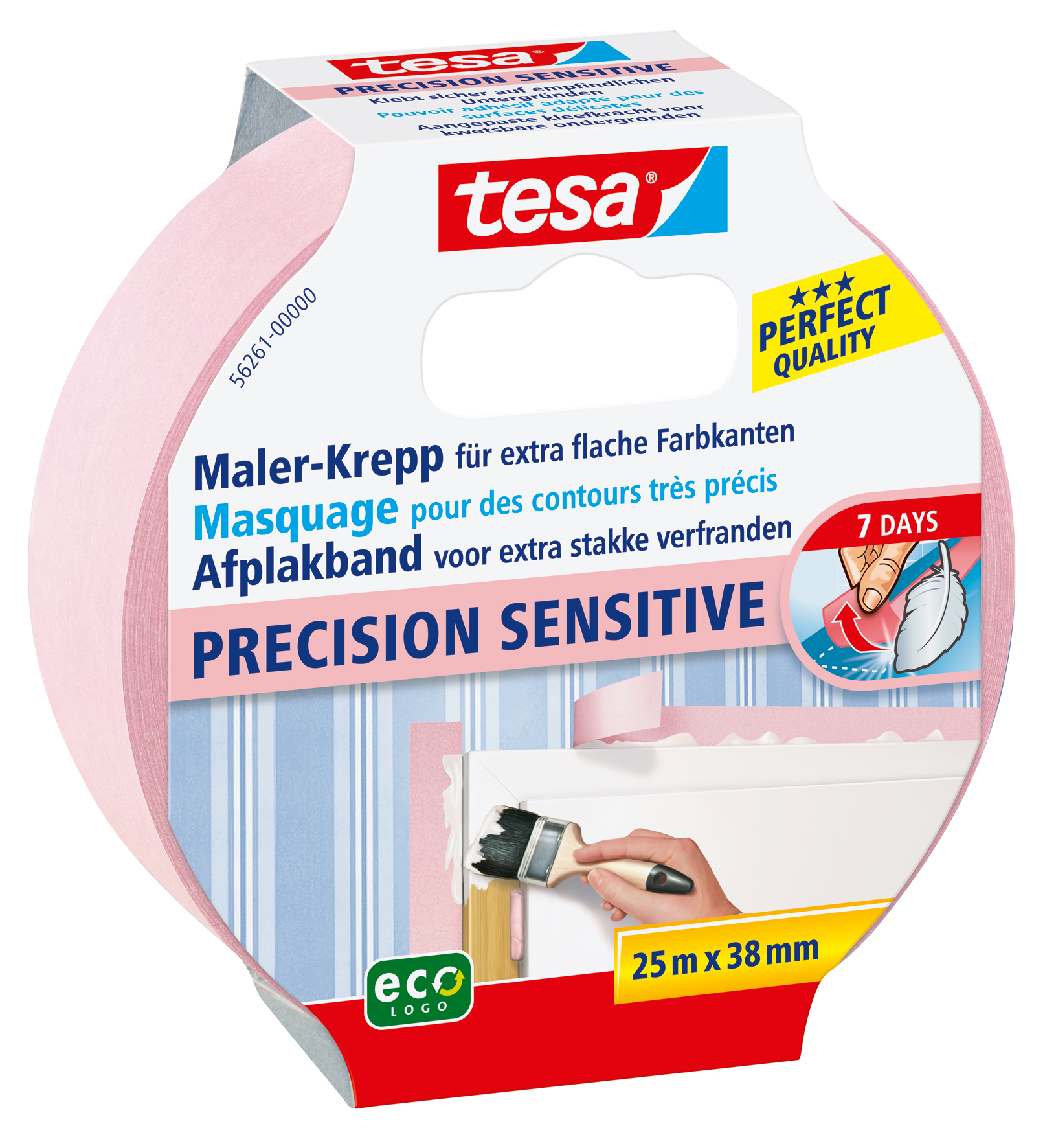 GP: 0,18 EUR/m 4 x tesa Maler-Krepp Precision Sensitive 25 m x 38 mm