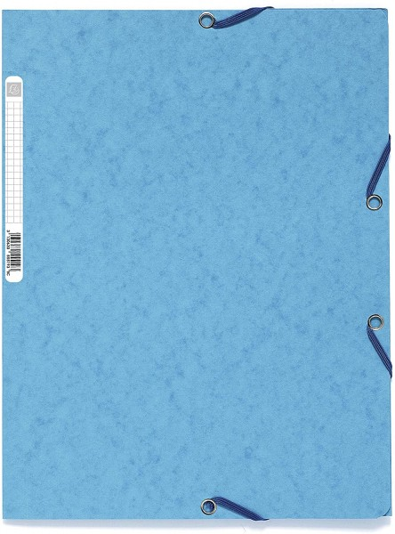 Exacompta 55500E Sammelmappe (Manila-Karton, Gummizug, 3 Klappen 400g, DIN A4) zufällige Farbe