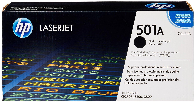 Vorschau: Original HP Toner Q6470A für COLOR LASERJET CP3505 / 3600 / 3800 schwarz