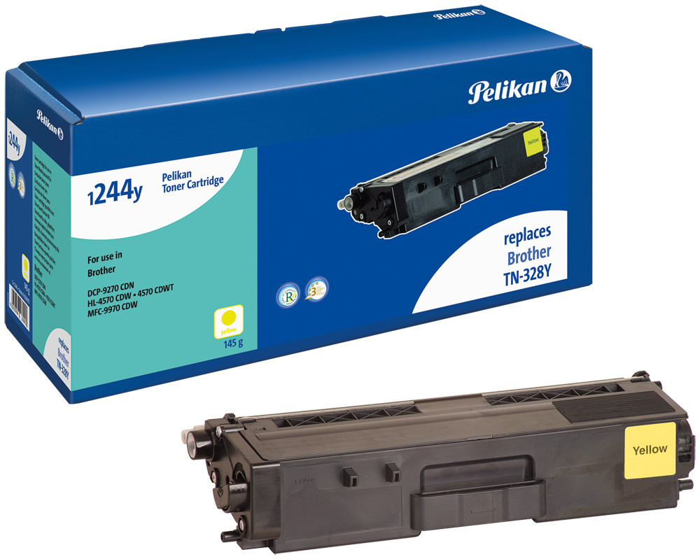 Pelikan Toner komp. zu TN-328Y Brother DCP-9270 CDN etc. yellow