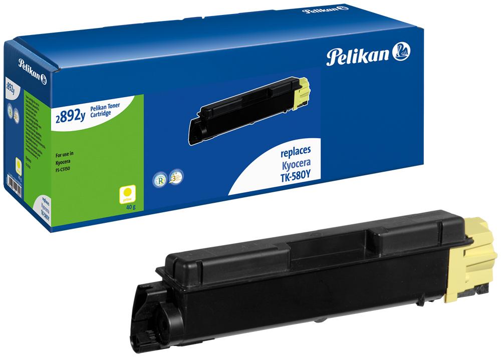 Pelikan Toner 2892y komp. zu TK-580Y Kyocera FS-C5150 yellow