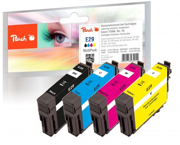 Peach Multipack E29 - PI200-478 kompatibel mit Epson T2986 Nr. 29