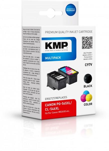 KMP Vorteilspack C97V für CANON PG545XL (8286B001), CANON CL546XL (8288B001)