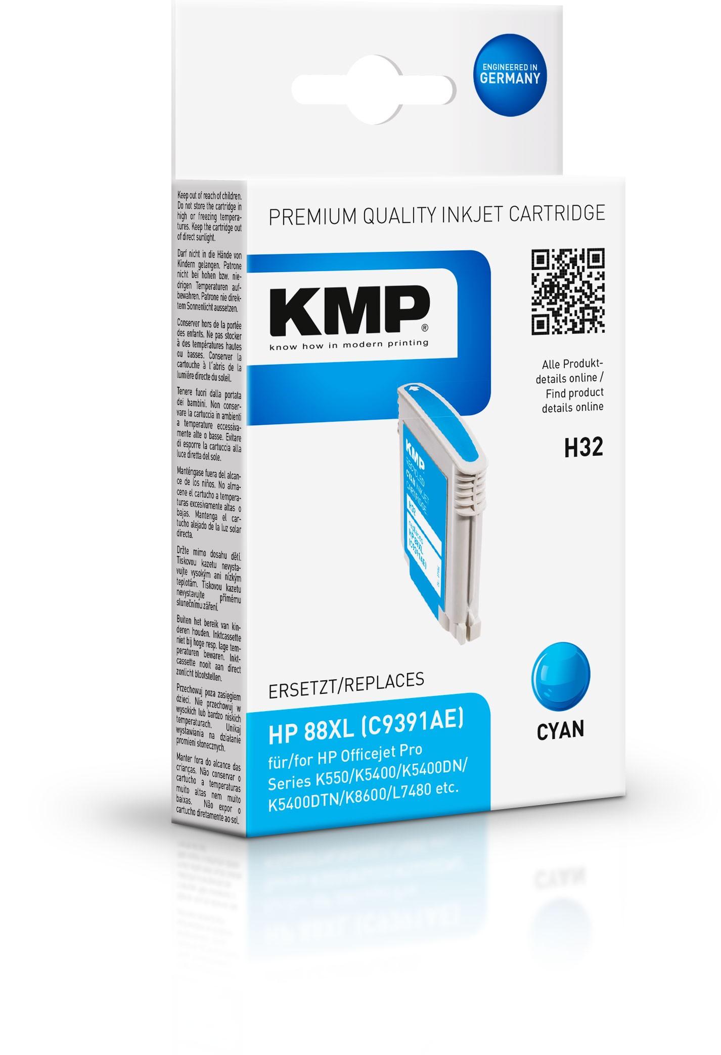 Vorschau: KMP Patrone H32 komp. C9391AE HP 88XL für HP Officejet Pro K550