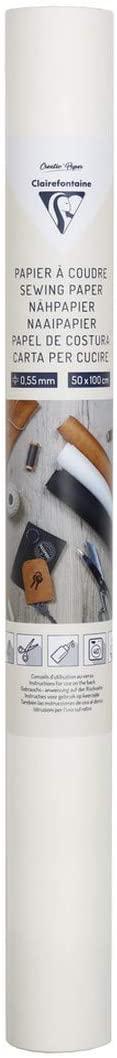 Clairefontaine 95533C – 1 Rolle zum Aufnähen, 50 x 100 cm, Weiß