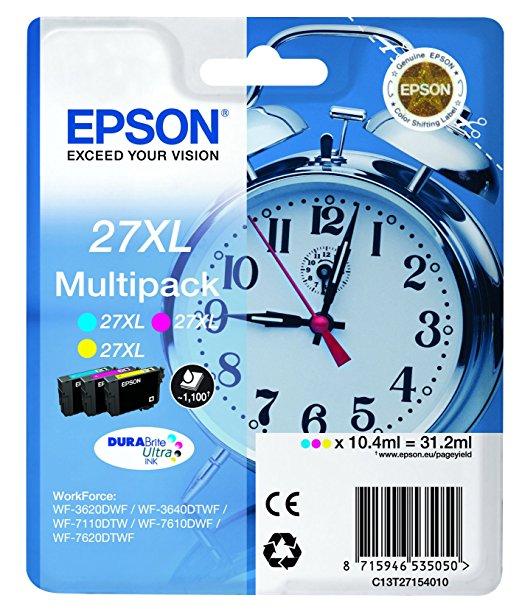 Original Epson Multipack T2715 No.27XL für WF 3620  c / m / y