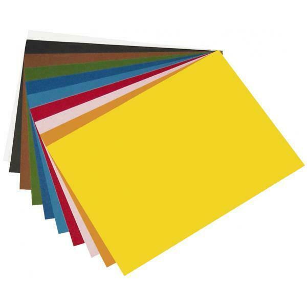 Folia Tonpapier 220g/m² 50x70 - 25 Bögen – weiß