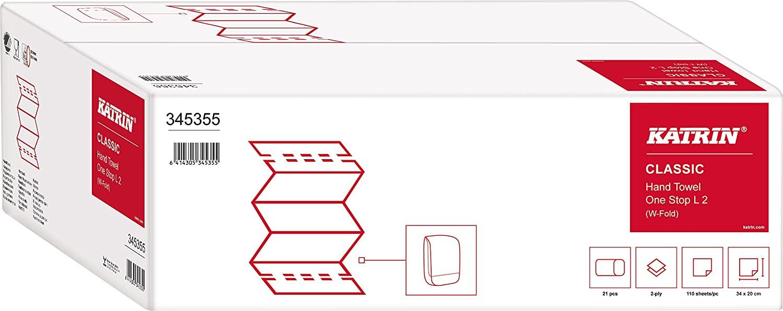 2 Kartons Handtuchpapier, Papierhandtücher Katrin Classic One Stop L2 von metsä tissue (Art. 345355)