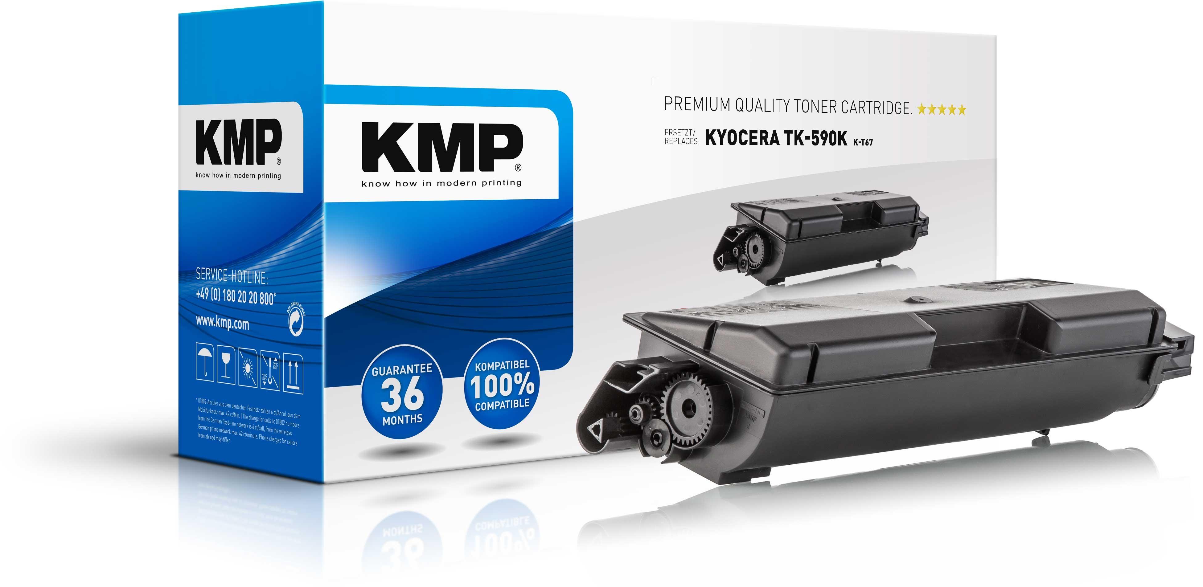 KMP Toner K-T67 für Kyocera TK-590K XXL FS-C2026MFP etc. black