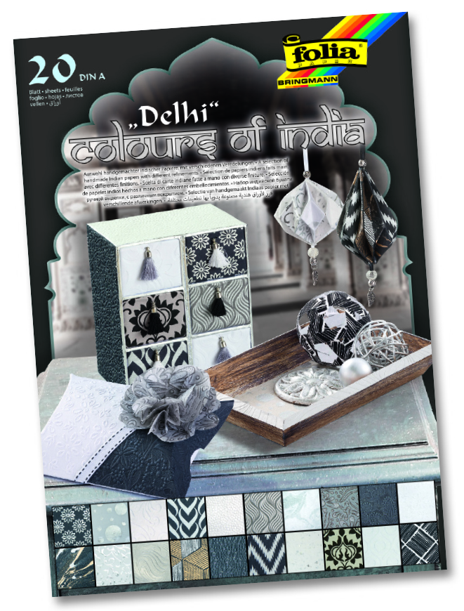 """Folia Naturpapier Block """"Colours of India"""" DELHI"""