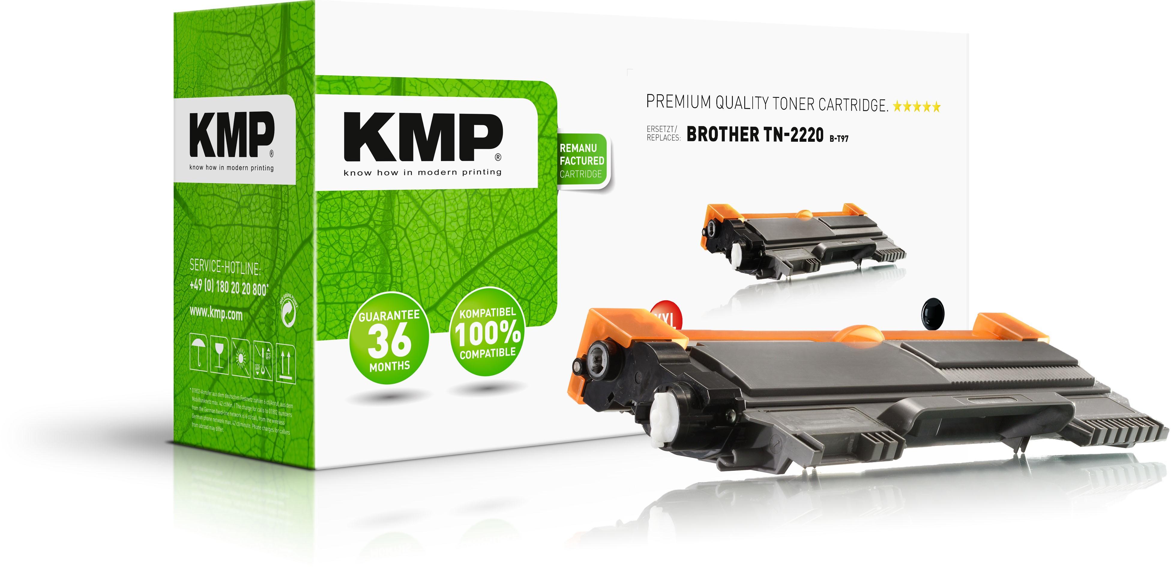 KMP B-T49 schwarz Tonerkartusche ersetzt Brother TN-2220