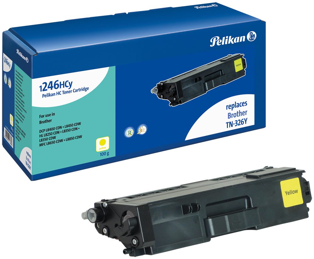Pelikan Toner komp. zu TN-326Y Brother DCP-L8400 CDN etc. yellow