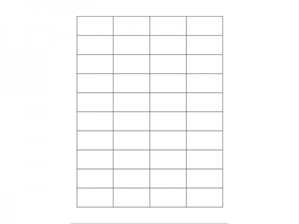 Igepa Etiketten 48,5 x 25,4 mm 100 Blatt in weiß