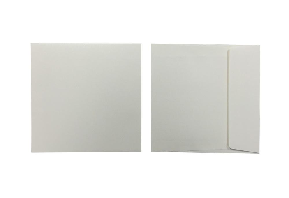 Inapa Shyne Umschläge Quadro Pearly White 120g/m² 100 Stück
