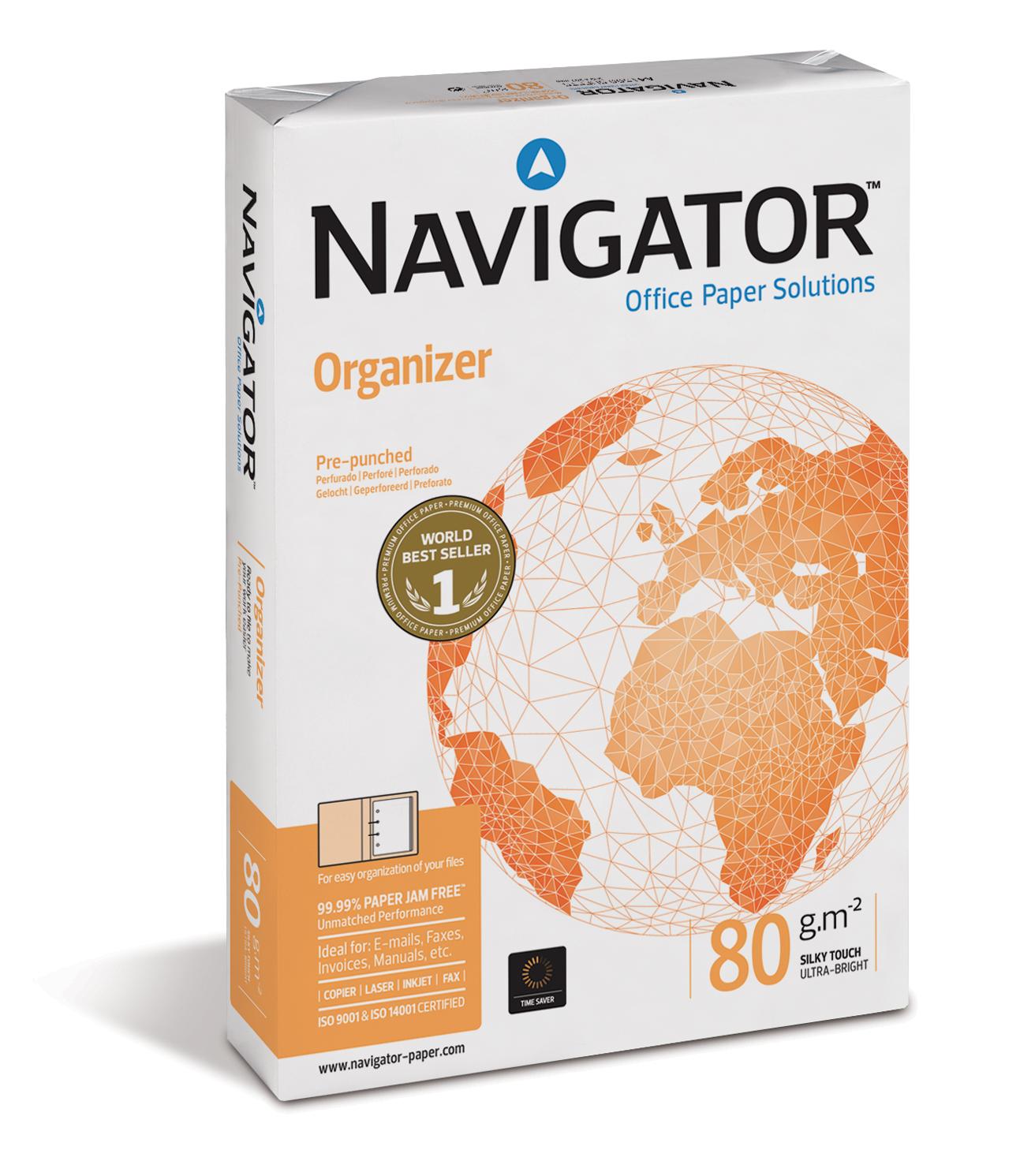Vorschau: Navigator Organizer 80g/m² DIN-A4 - 2-fach gelocht
