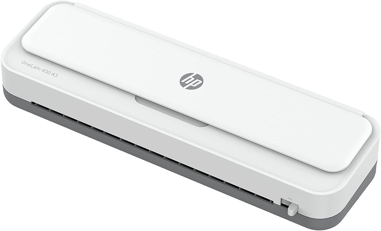 HP OneLam 400 A3, Laminiergerät, 75/80 - 125 Micron, 400 mm pro Minute, inkl. Schneidelinieal, Ecken