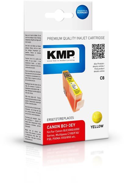 KMP Patrone C8 komp. zu BCI-3eY Canon BJC 3000 6000 yellow