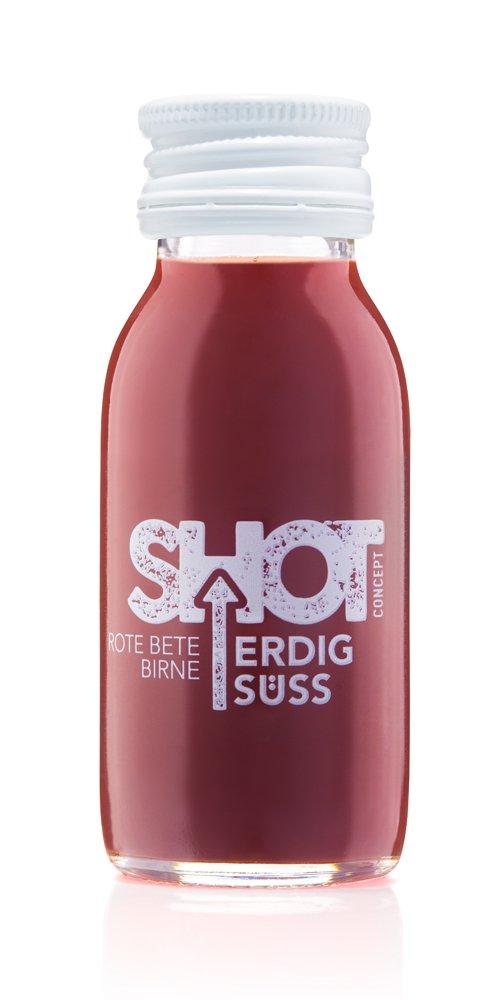 Shot Concept - Rote Bete + Birne - Erdig Süß, 1x60ml Glasflasche