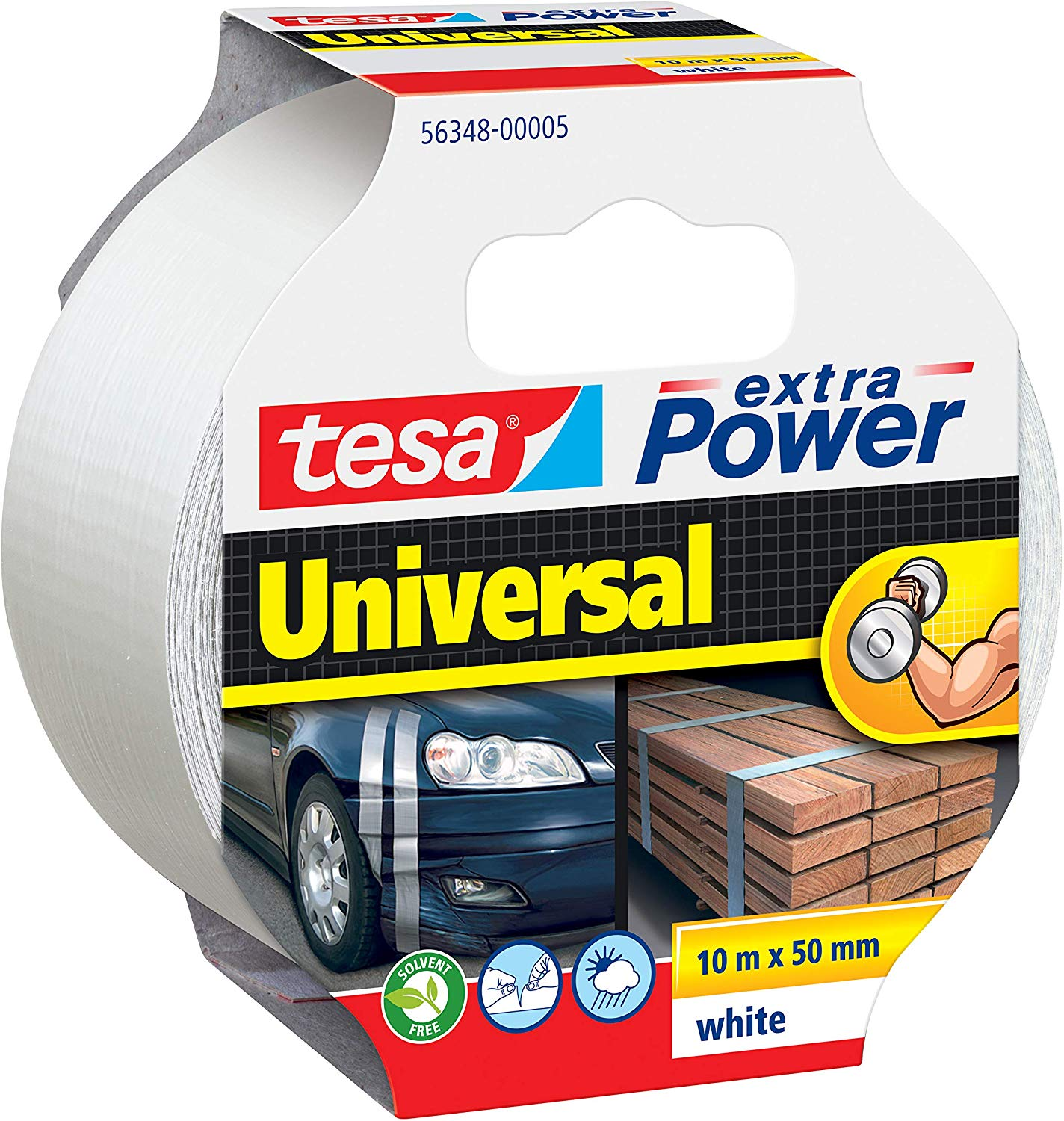 GP: 0,36 EUR/m tesa extra Power Universal Weiß 10m x 50mm