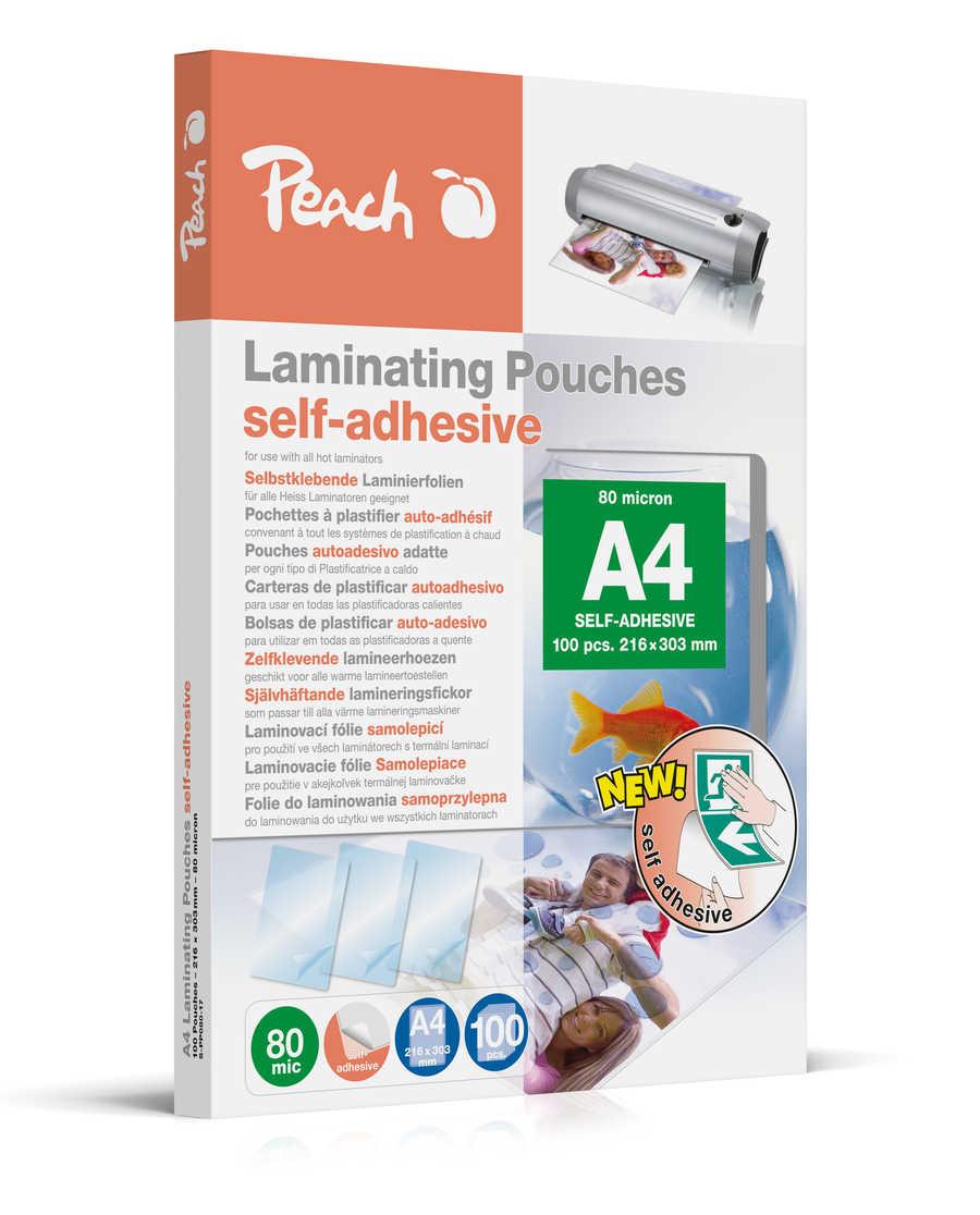 Peach Laminierfolien A4, 80 mic, selbstklebend, S-PP080-17, 100 Stk.