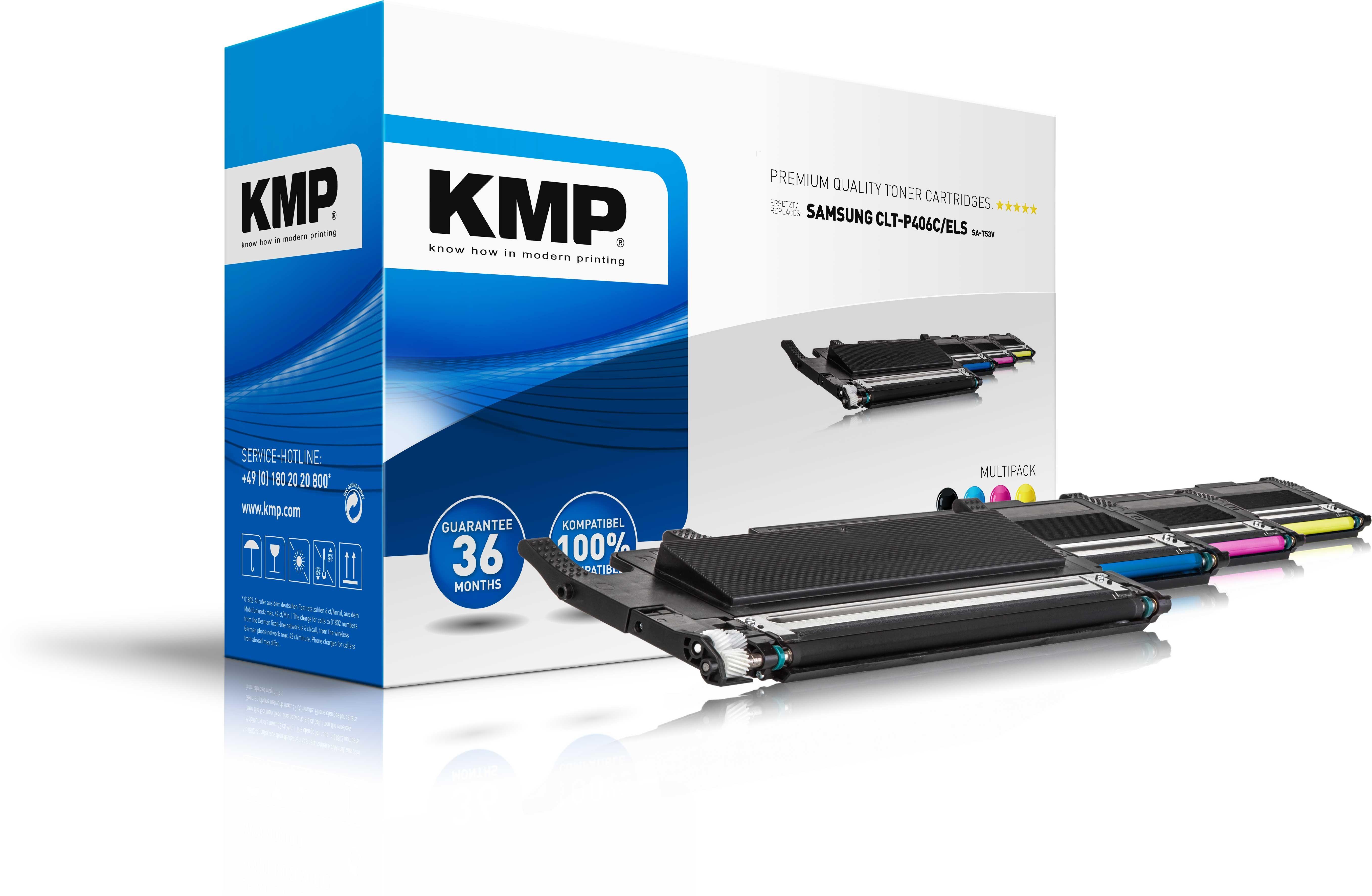 KMP MultipackToner SA-T53V für CLT-K406S/ELS CLX-3305 etc. black,cyan,magenta,yellow