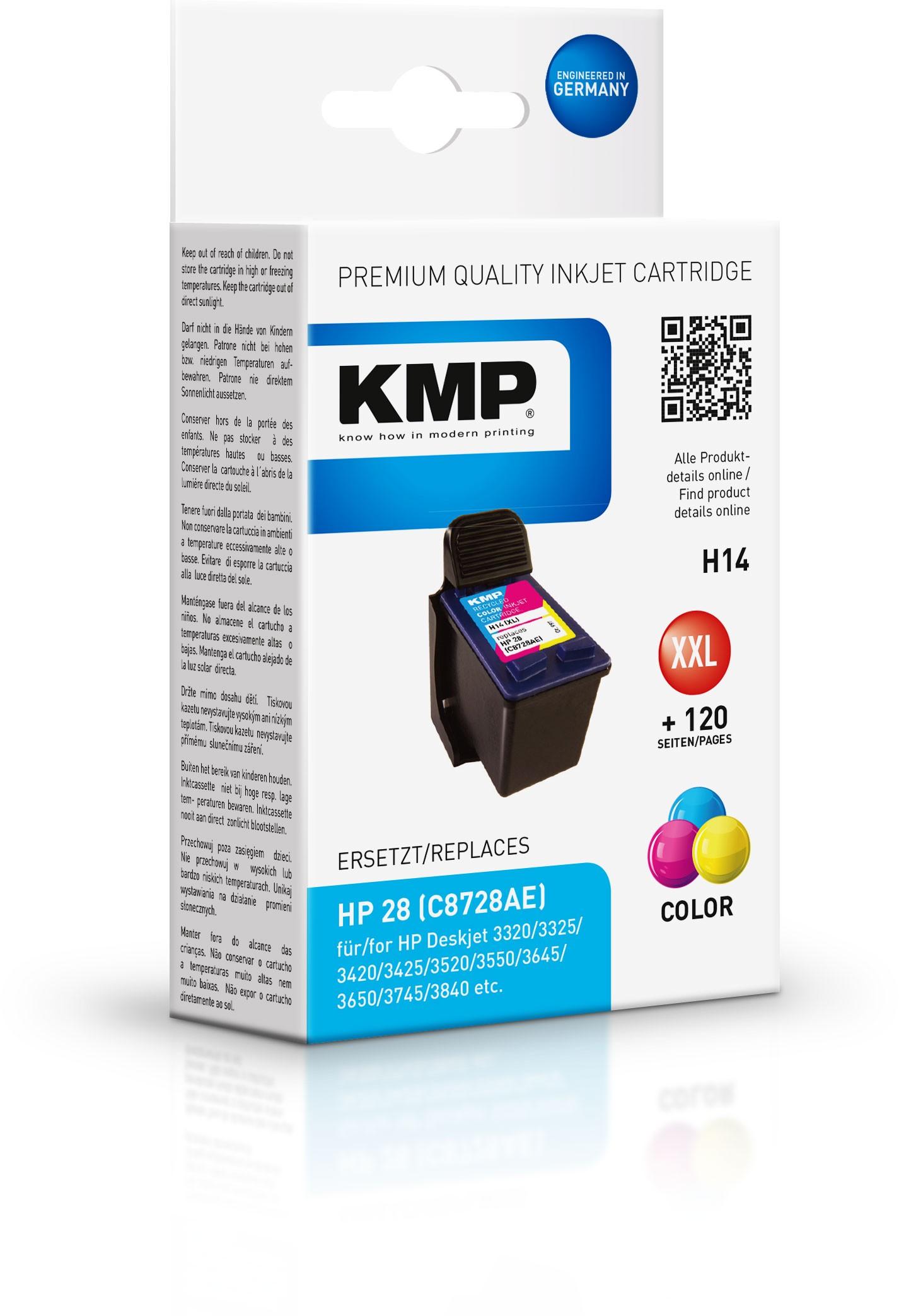 Vorschau: KMP Patrone H14 komp. C8728AE HP DeskJet 3420 3550 3840 color