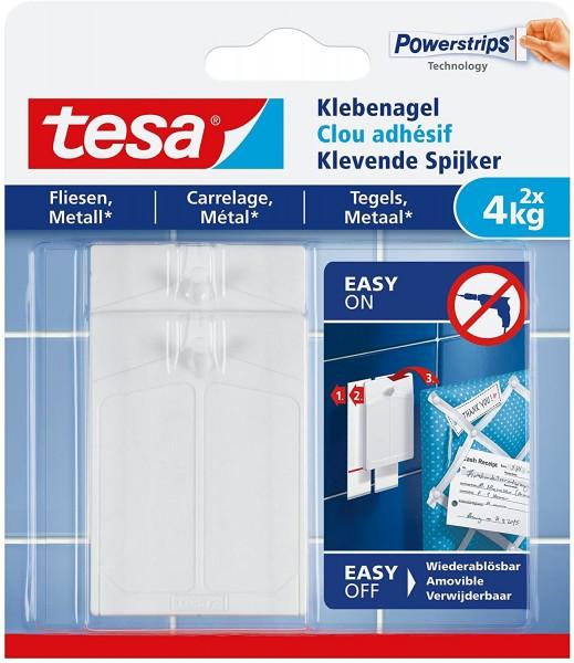 tesa Klebenagel Fliesen und Metall, 2x bis max 4 kg