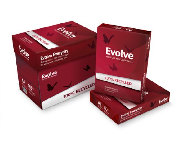 Evolve Everyday Kopierpapier 100% recycling A4 weiß 80g/m² 2500 Blatt weiß