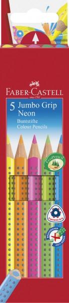 Faber-Castell Buntstifte Jumbo GRIP Neon 5er Etui