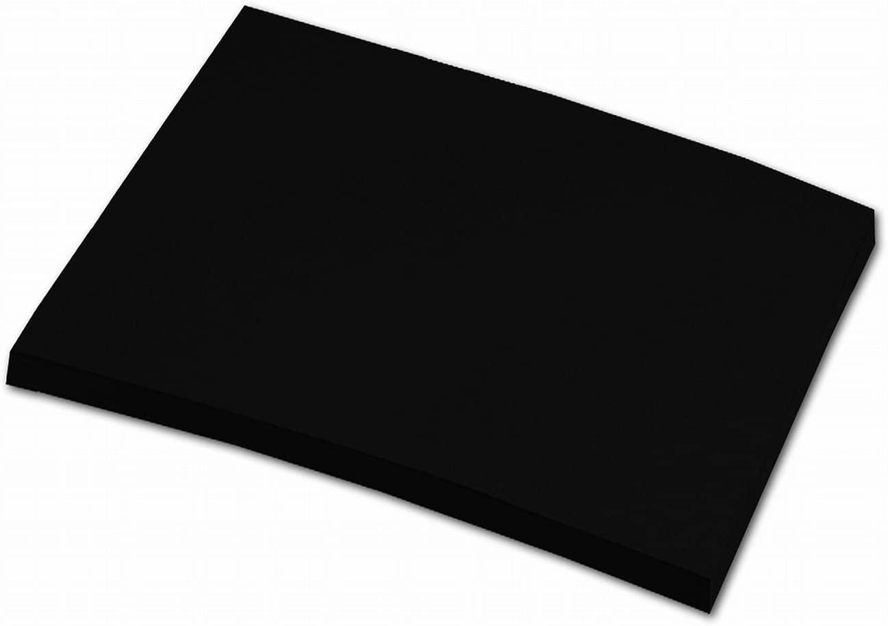 folia 6490 - Tonpapier schwarz, DIN A4, 130 g/qm, 100 Blatt - zum Basteln und kreativen Gestalten vo