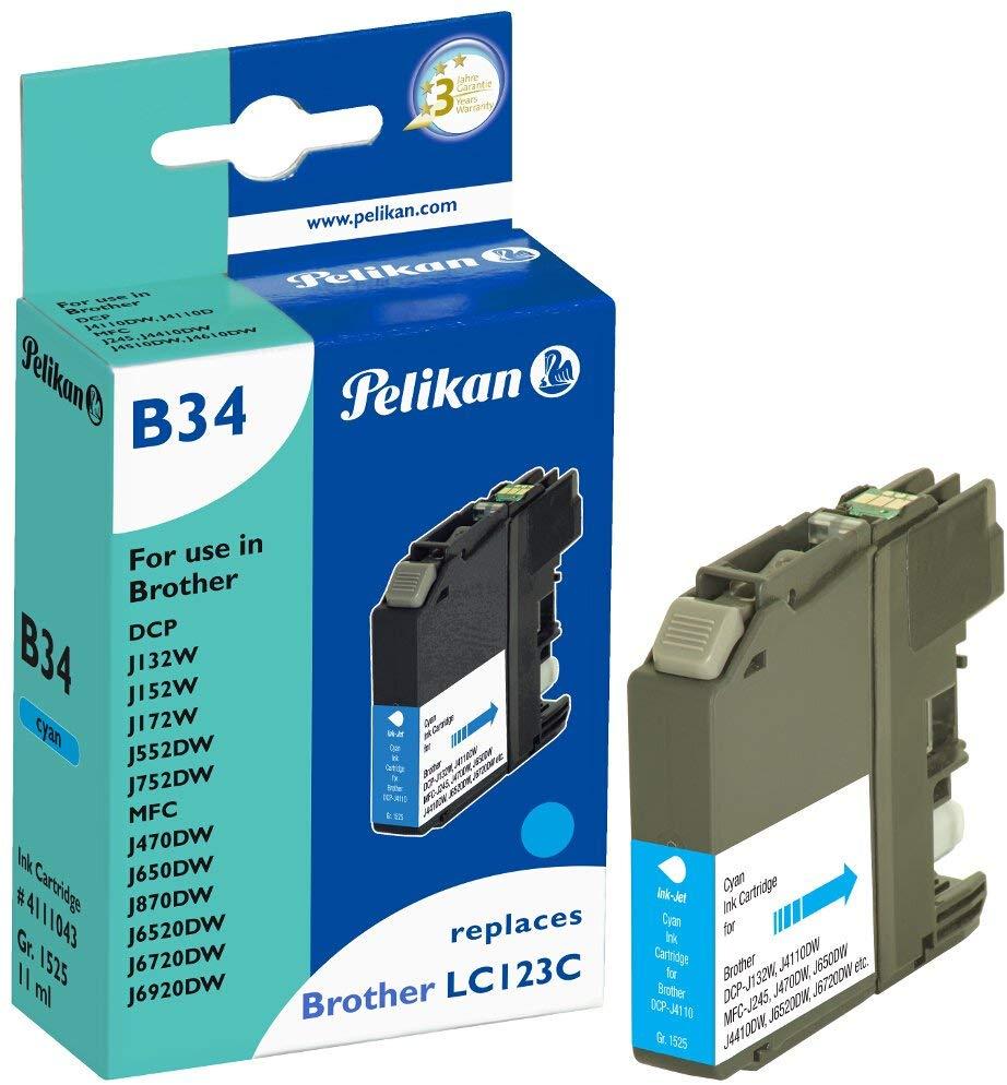 Pelikan Tintenpatrone ersetzt Brother LC123HC, Cyan, 767 Seiten