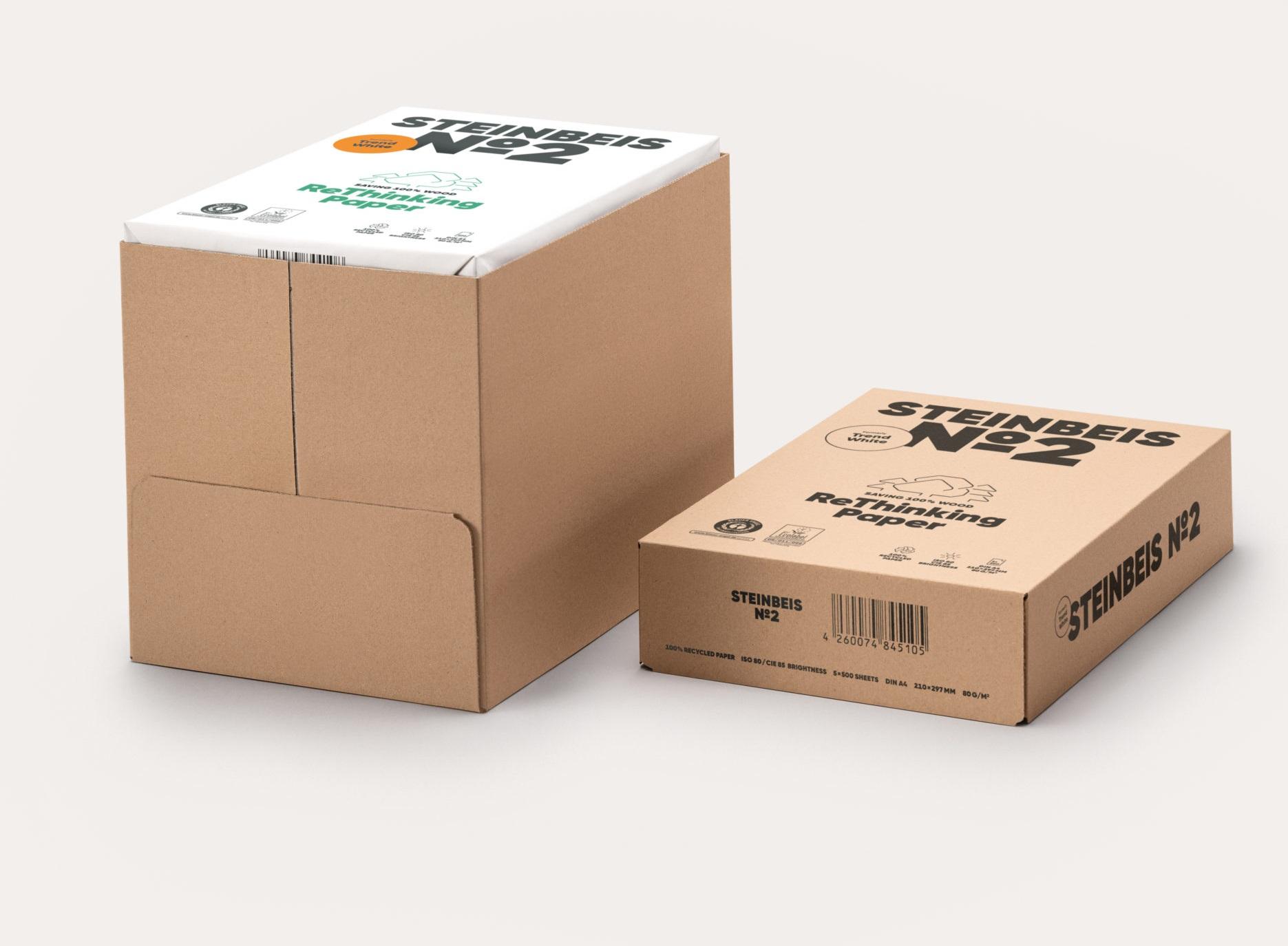 Steinbeis No 2 - Trend White 80g/m² DIN-A4 2500 Blatt 100% Recycling