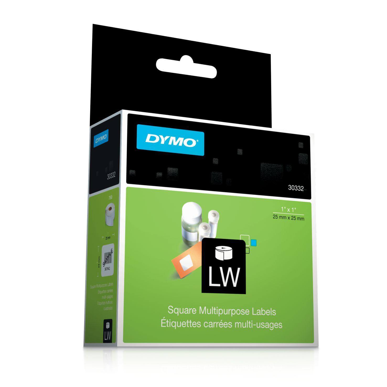 Dymo Label Writer-Vielzwecketiketten quadratisch 25 x 25 mm weiß
