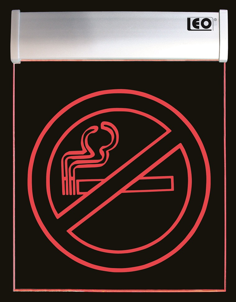 "LEO Leutschfirft-Display Acryl ""No Smoking"" Hinweistafel 280 x 210 x 20 mm"