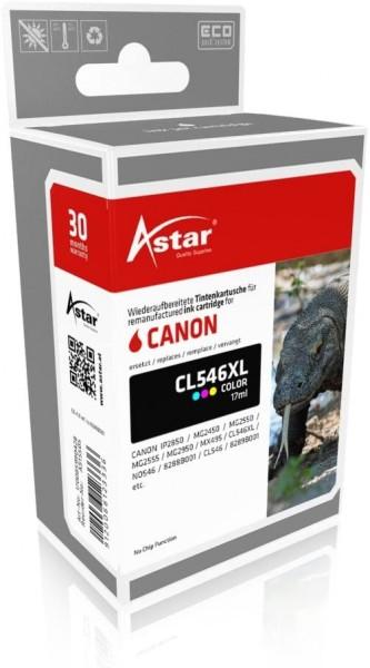 Astar AS15505 Tintenpatrone kompatibel zu CANON CL546XL, 300 Seiten, color