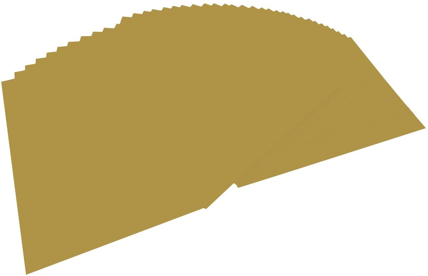 folia 6465 - Tonpapier gold matt, DIN A4, 130 g/qm, 100 Blatt - zum Basteln und kreativen Gestalten