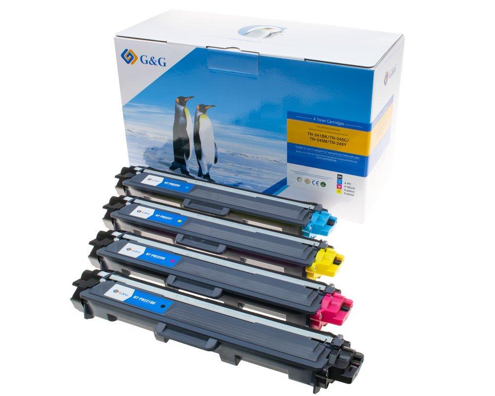 G&G Image Toner-Kombipack kompatibel zu Brother TN-241/ TN-242/ TN-245/ TN-246 schwarz, cyan, magent