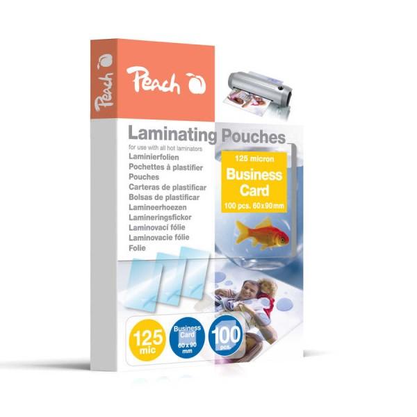 Peach Laminierfolien Business Card (60x90mm), 125 mic, glänzend, PP525-08, 100 Stk.