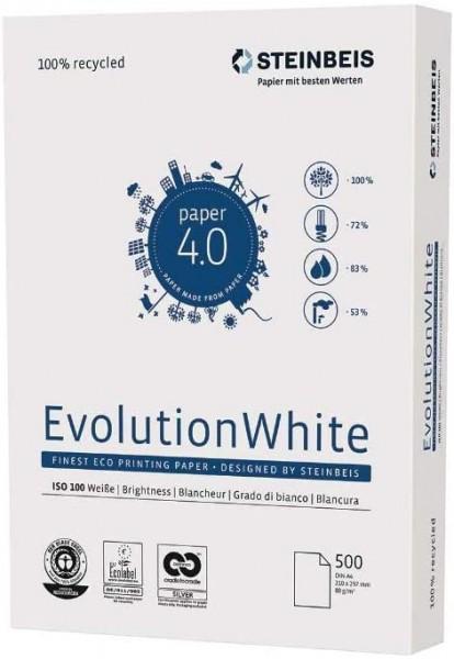 2500 Blatt Steinbeis Evolution White 80g/m² DIN-A4 - 100er Weiße