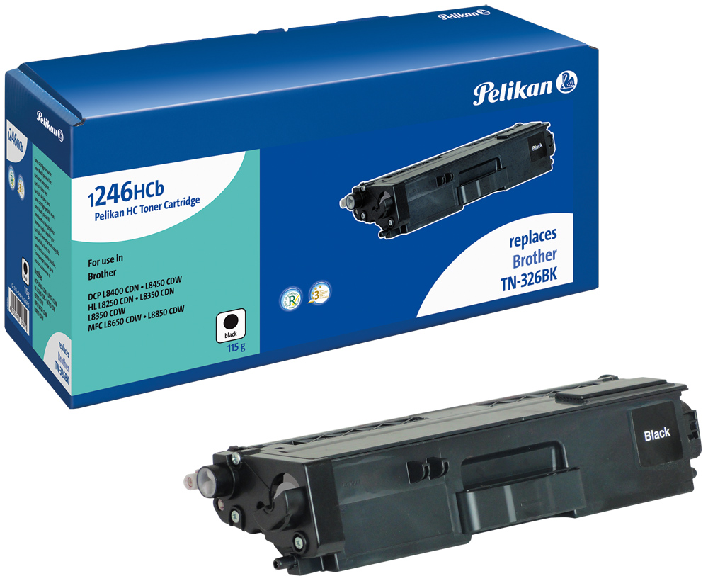 Pelikan Toner komp. zu TN-326BK Brother DCP-L8400 CDN etc. black