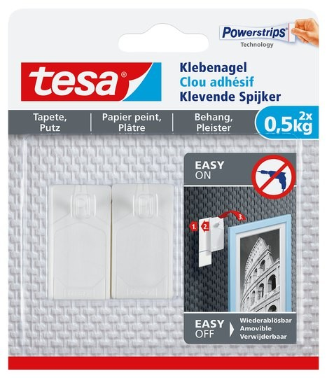 tesa Klebenagel Tapete & Putz, 2 x 0,5 kg