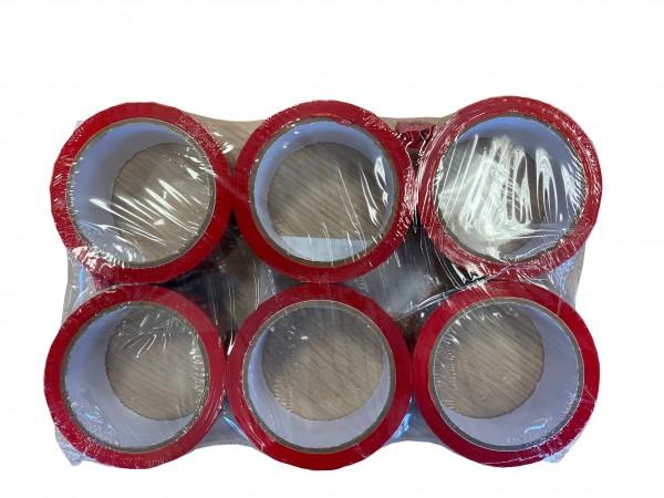 GP: 0,02 EUR/m 6x Klebeband VORSICHT GLAS - NICHT WERFEN - Rolle 66m x 50mm - NICHT FALLEN LASSEN