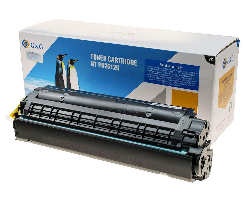 G&G XL-Toner kompatibel zu HP 12A/ Q2612A Schwarz