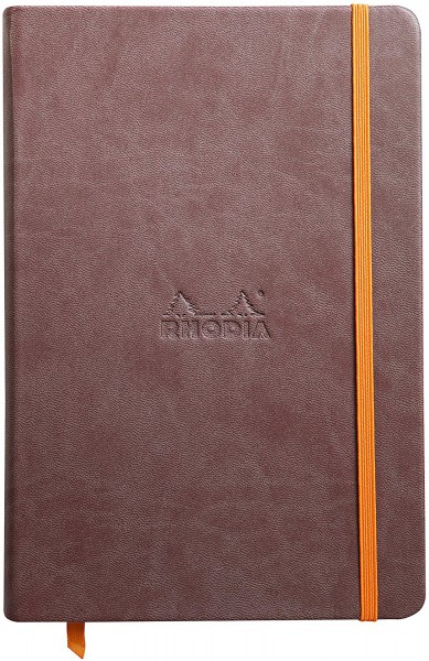 Rhodia 118743C Rhodiarama Book (DIN A5, 14,8 x 21 cm Notizbuch mit Gummizug, liniert, 96 Blatt) 1 St